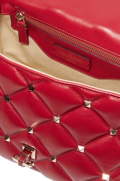 Valentino CandyStud Schultertasche aus gestepptem Leder