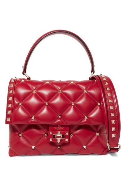 Valentino Garavani Candystud Quilted Leather Shoulder Bag Net A Porter Com