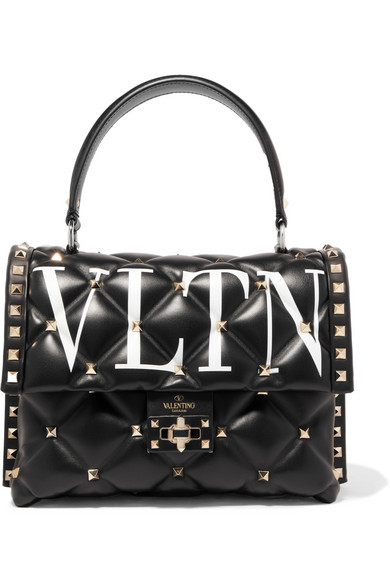 Valentino Garavani Candystud Printed Quilted Leather Shoulder Bag by Valentino