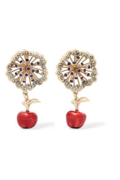 Valentino Garavani Gold-tone, Crystal And Enamel Necklace - One size Valentino