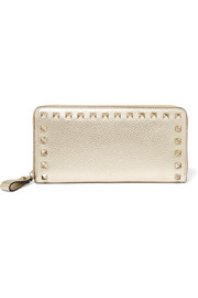 Valentino Garavani The Rockstud textured-leather wallet