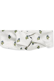 Valentino Knotted metallic floral jacquard headband