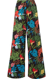 Athena printed georgette wide leg pants