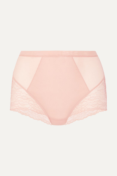 b9f2130a40d5 Spanx | Spotlight stretch-tulle and lace briefs | NET-A-PORTER.COM