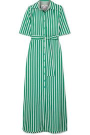 Evi Grintela Valerie striped cotton-poplin maxi dress