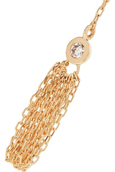 Hirotaka Crinoid Tasseled 10-karat Gold Diamond Earring Gg0sGo3bPw