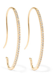 Gossamer 10-karat gold diamond earrings