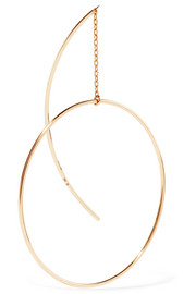 Circle 10-karat gold earring