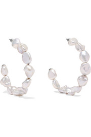 Meadowlark Romeo pearl hoop earrings