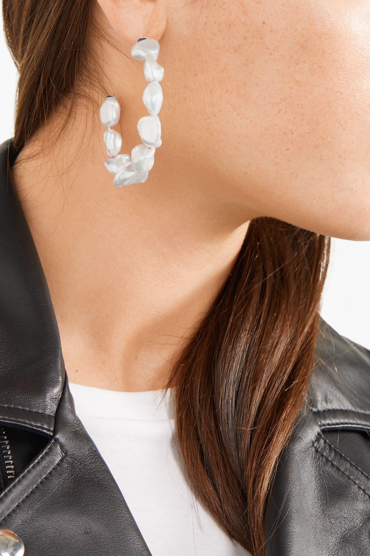 Meadowlark Romeo pearl hoop earrings