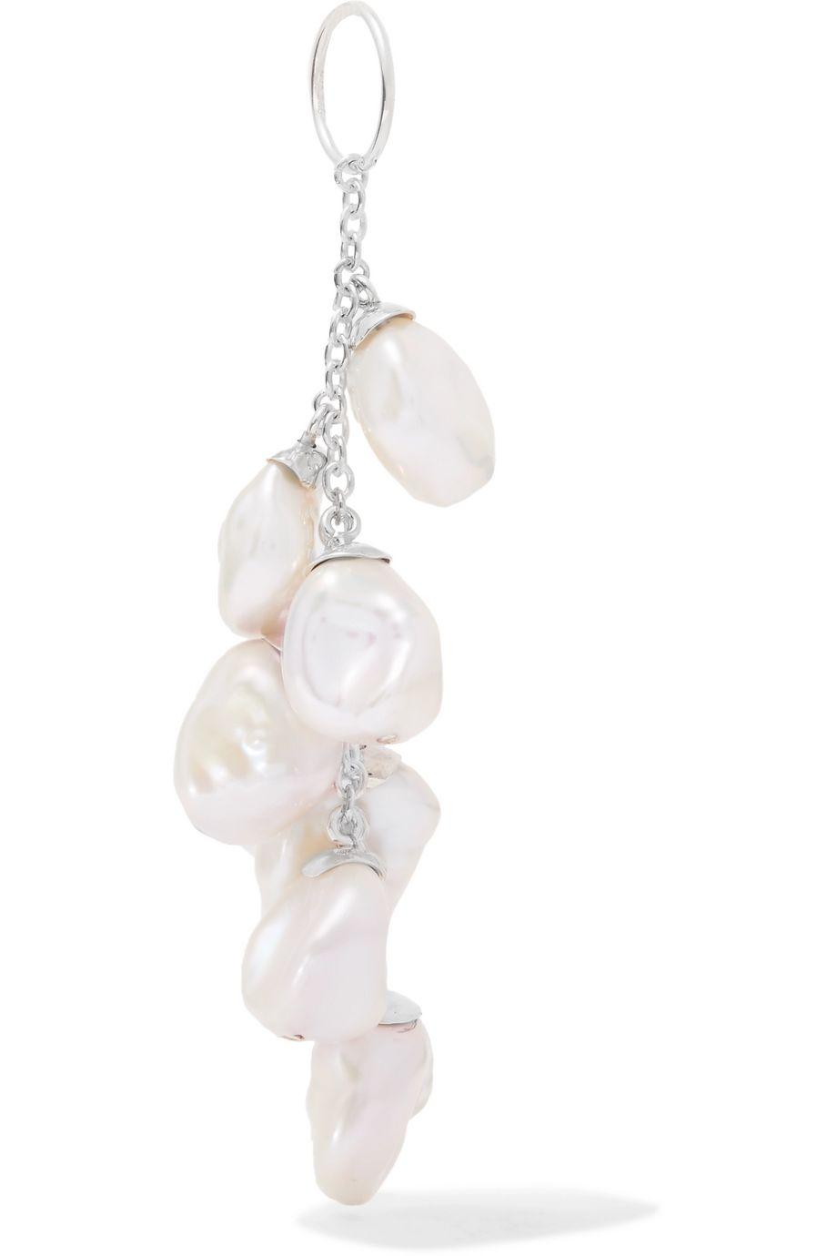 Meadowlark Sterling silver pearl earring