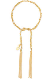 Carolina Bucci Strength Lucky 18-karat gold and silk bracelet