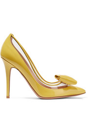 Valentino Valentino Garavani Glassglow PVC-trimmed patent-leather pumps