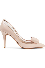 Valentino Valentino Garavani Glassglow PVC-trimmed leather pumps