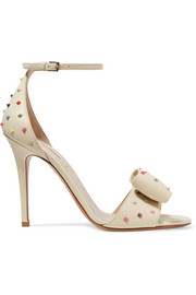 Valentino Valentino Garavani The Rockstud bow-embellished leather sandals