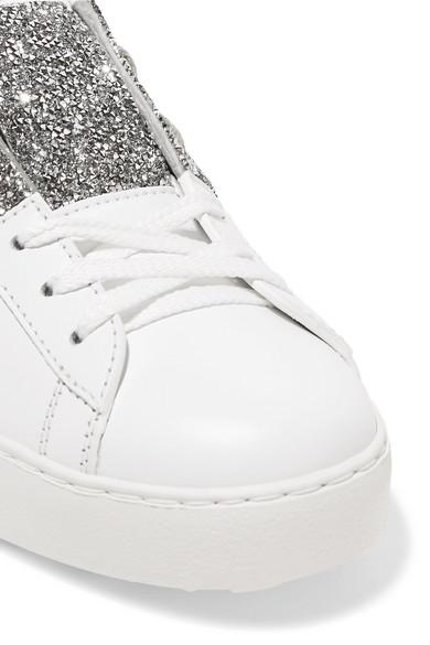 Valentino | Leder Valentino Garavani Sneakers aus Leder | mit Kristallverzierungen ba8bd8