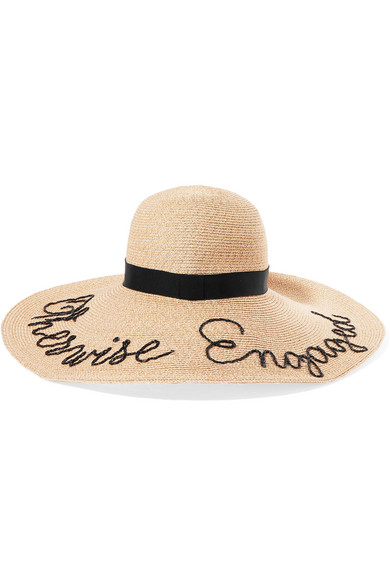 4030eca3be630 Eugenia Kim. Bunny embroidered straw sunhat