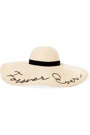 Forever Ever embroidered woven paper sunhat
