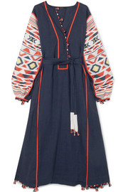 + Vita Kin Regatta embroidered linen dress