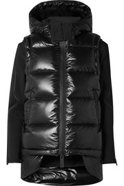 TEMPLA Lech hooded tech-jersey and quilted shell down jacket