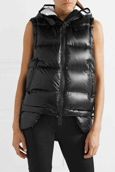 Templa Nano Daun Vest Of High-tech Jersey And Quilted Shell Hooded