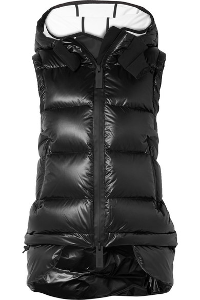 TEMPLA NANO HOODED TECH-JERSEY AND QUILTED SHELL DOWN GILET