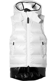 TEMPLA Quilted shell down hooded gilet