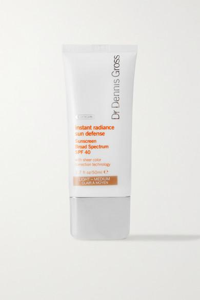 Dr. Dennis Gross Skincare - Instant Radiance Sun Defense Spf40 - Light/medium, 50ml