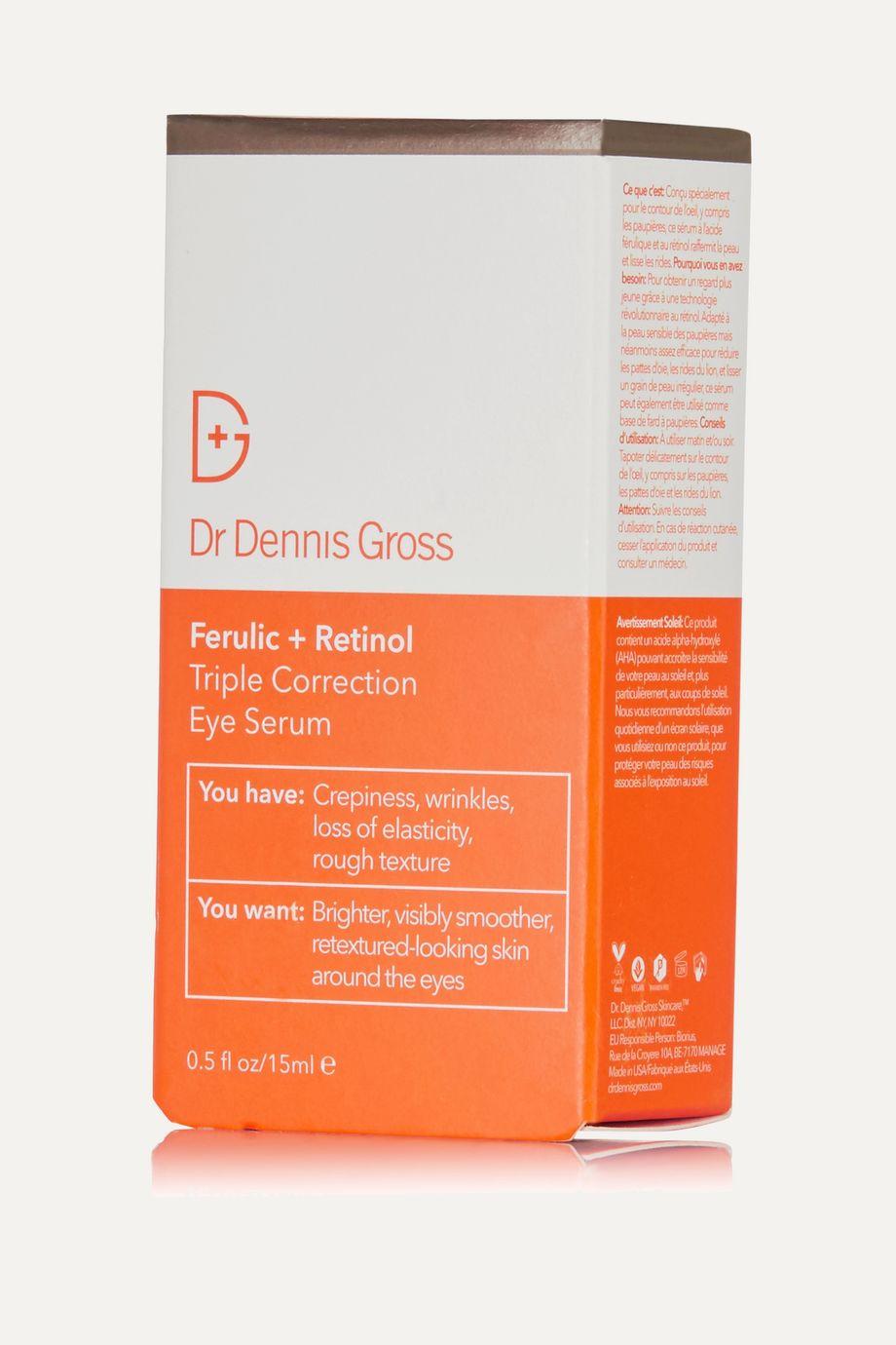 Dr. Dennis Gross Skincare Ferulic + Retinol Triple Correction Eye Serum, 15ml