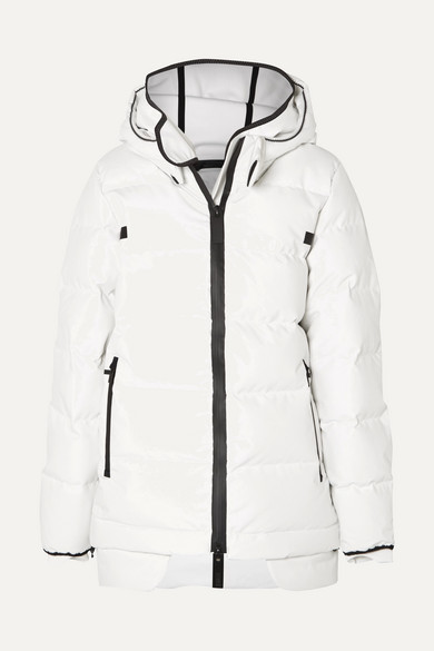 TEMPLA 3L QUILTED COTTON-BLEND AND TECH-JERSEY DOWN COAT