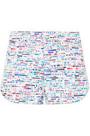 Glitch printed stretch shorts