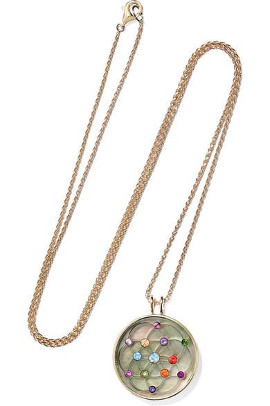 Noor Fares Akasha 18-karat Gray Gold Multi-stone Necklace 6hnnymMijd