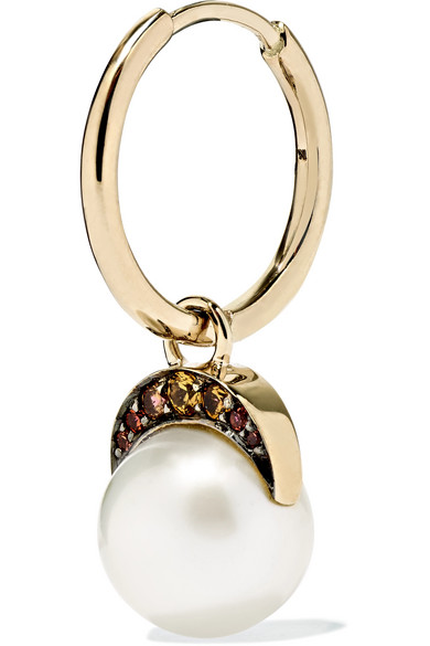 Noor Fares Mala 18-karat Gold Multi-stone Earrings NZKVHIv