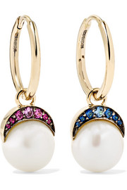 Mala 18-karat gold multi-stone earrings