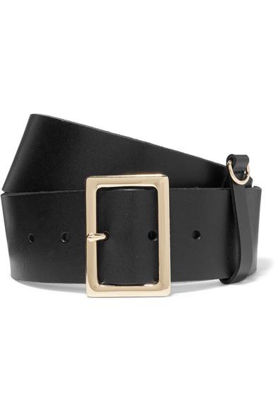 frame female frame leather belt black