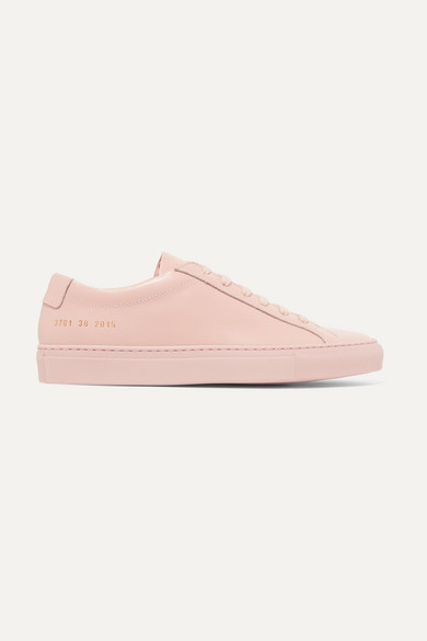 Common Projects Original Achilles Leather Sneakers In Pink