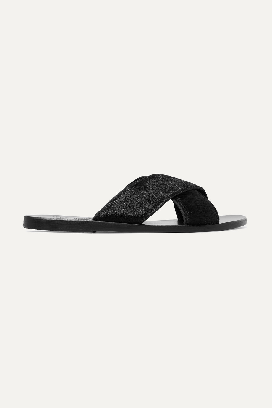 Ancient Greek Sandals Thais calf hair slides