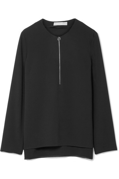Stella McCartney Arlesa Oberteil aus Stretch-Crêpe