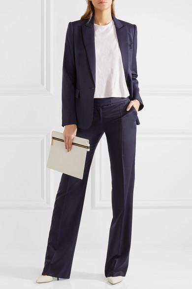 Stella McCartney Jasmine Hose mit weitem Bein aus Woll-Twill