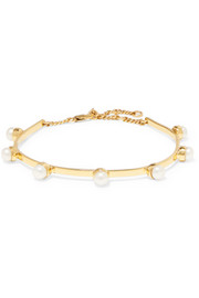 Cornelia Webb Gold-plated freshwater pearl anklet