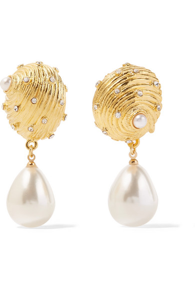 Kenneth Jay Lane Kenneth Jay Lane Woman Gold-tone Faux-pearl Earrings Gold Size 3eBLsH