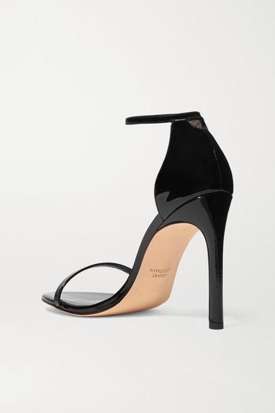 Stuart Weitzman Sandals NudistSong patent-leather sandals