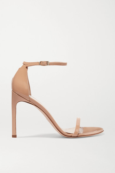 Nudist Song Patent Leather Sandals by Stuart Weitzman