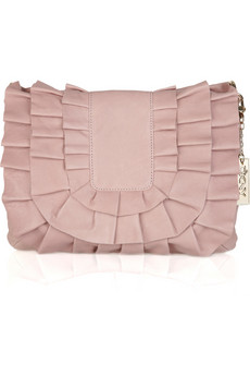 DKNY Ruffled leather shoulder bag