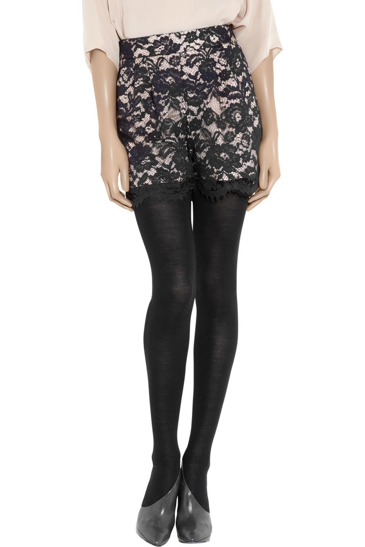 Tibi Lace and silk shorts
