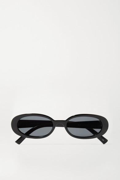LE SPECS Women'S Outta Love Cat Eye Sunglasses, 50Mm in Black/Smoke Mono