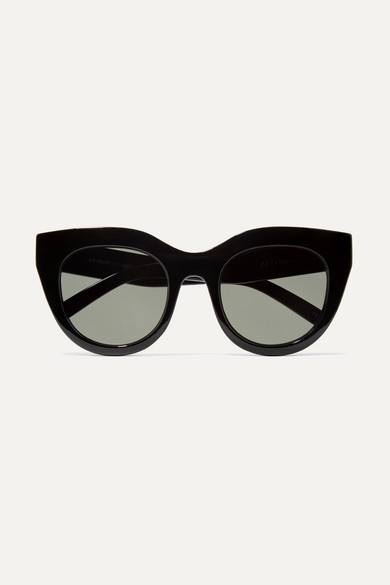 Le Specs - Air Heart Cat-eye Acetate Sunglasses - Black