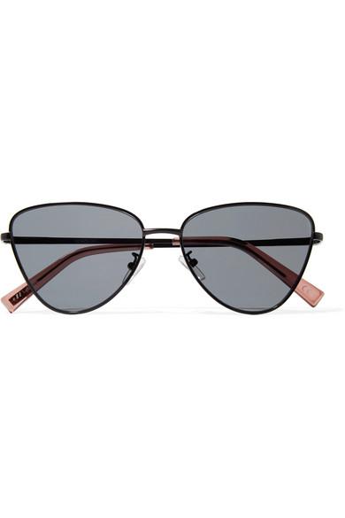 Echo Cat Eye Metal Sunglasses by Le Specs