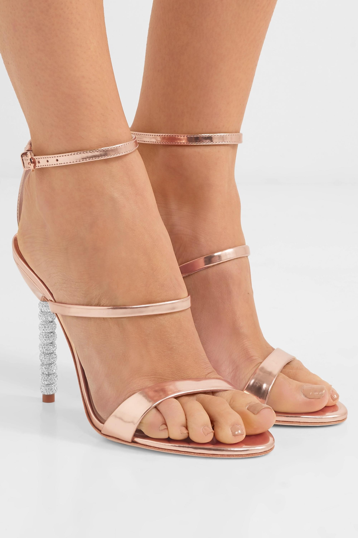 Sophia Webster Rosalind 水晶缀饰金属感皮革凉鞋