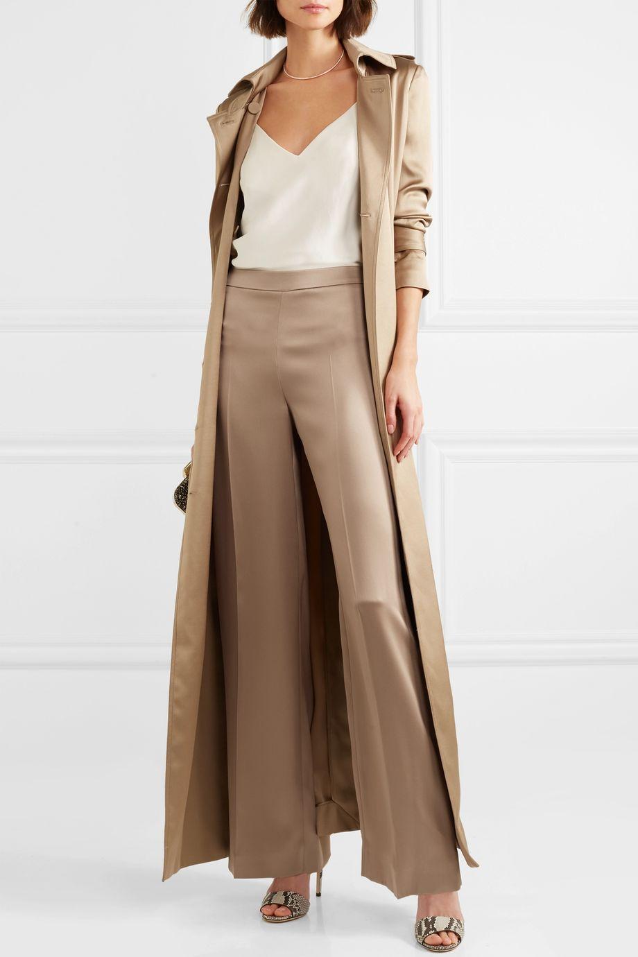 Ralph & Russo Silk-satin wide-leg pants